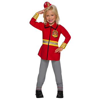 Girls Barbie Firefighter Costume