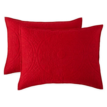 Red Decorative Pillows Shams For Bed Bath JCPenney Classy Red Decorative Pillows For Bed
