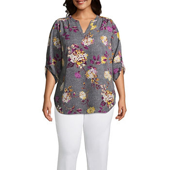 e96b8059acc Plus Size Floral Tops for Women - JCPenney