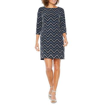 acb1636641 Studio 1 3 4 Sleeve Striped Shift Dress · (2). Add To Cart. Few Left