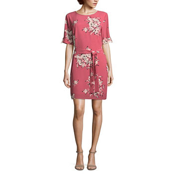 Floral Pink Dresses For Women