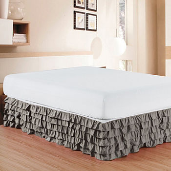 Queen Gray Bedskirts For Bed Bath Jcpenney