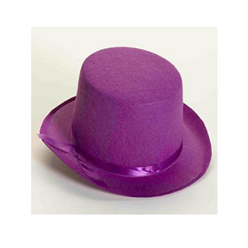 Deluxe Purple Top Hat Dress Up Accessory