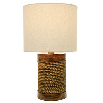 Decor Therapy Cali Rope Wrapped Accent Lamp