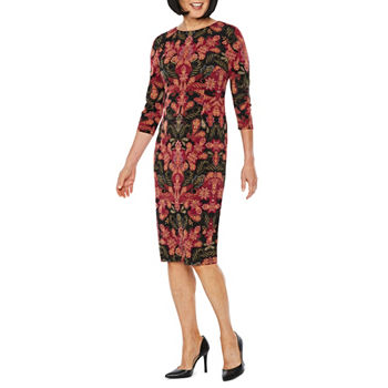 d208974840a Liz Claiborne 3 4 Sleeve Sheath Dress