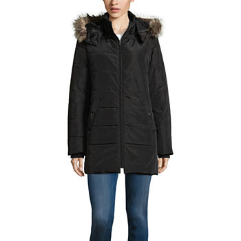 5f12992b3ef1 Tall Size Faux Fur Trim Coats   Jackets for Women - JCPenney
