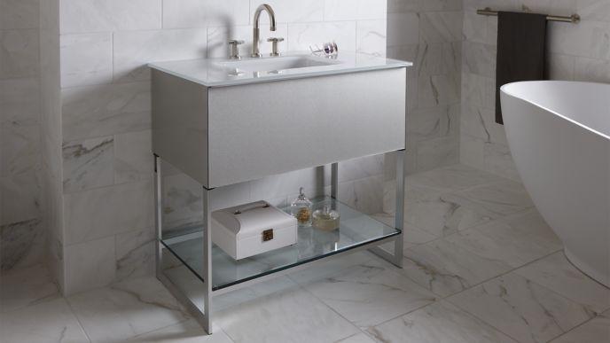 robern with tops inch sink white center stone vanities top vanity designer brands