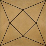 """12"""" x 12"""" diamond decorative field in crème"""