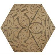 """12"""" x 13-7/8"""" eden hexagon decorative field in crème"""