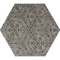 "12"" x 13-7/8"" maximus hexagon decorative field in grey"