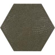 """12"""" x 13-7/8"""" reptile hexagon decorative field in grey"""