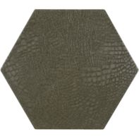 "12"" x 13-7/8"" reptile hexagon decorative field in grey"