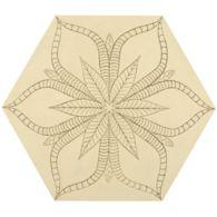 """12"""" x 13-7/8"""" tropic hexagon decorative field in crème"""