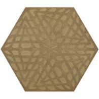 """12"""" x 13-7/8"""" weave hexagon decorative field in crème"""