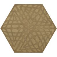 "12"" x 13-7/8"" weave hexagon decorative field in crème"