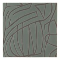 "Maven Canyon 8"" x 8"" field tile in Olive with black dry line"