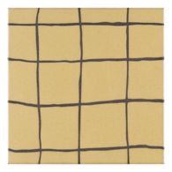 """Maven Dune 8"""" x 8"""" field tile in Silk with black dry line"""
