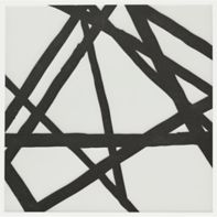 """Maven Solstice III 8"""" x 8"""" field tile in Matte White with black dry line"""