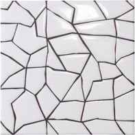 "Maven Sunset 8"" x 8"" field tile in Matte White with black dry line"