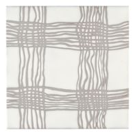 "Maven Woven 8"" x 8"" field tile in Matte White with grey dry line"
