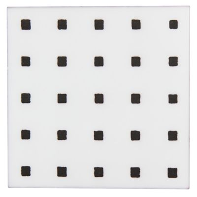 "Maven Zuma 8"" x 8"" field tile in Matte White with grey dry line"