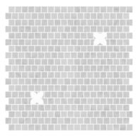 "Ann Sacks Mosaic Anderson 12"" x 12"" pattern repeat in Carrara and Thassos Standard"