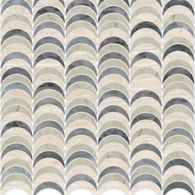 "Ann Sacks Mosaic Avalon 11.75"" x 12"" pattern repeat in Bardiglio, Whitewood, and Smoke"