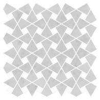 "Ann Sacks Mosaic Caysen 13.35"" x 13.25"" pattern repeat in Carrara & Standard Thassos"