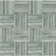 "Ann Sacks Mosaic Crosshatch 11"" x 11"" pattern repeat in Ming Green & Chippolino"