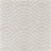 cleopatra mosaic with thassos standard and ivory cream in polished finish
