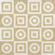 geometric mosaic with jerusalem gold and ivory cream in polished finish