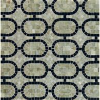 oval link mosaic with verde luna and nero pure black in polished finish