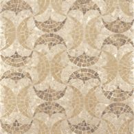 pelts mosaic with crema marfil and jerusalem gold in polished finish