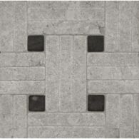 triple weave #1 mosaic in lagos azul with nero pure black dot in tumbled finish