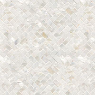 Belle Coquille herringbone mosaic