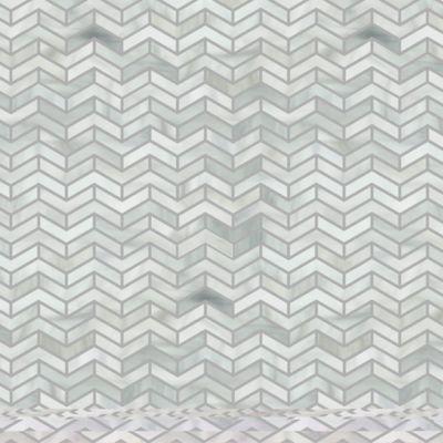 chevron herringbone mosaic in rain cloud