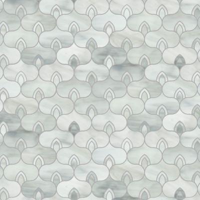 deco mosaic in rain cloud
