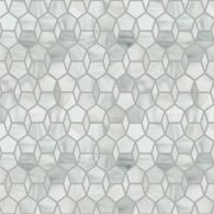 hex diamond mosaic in rain cloud