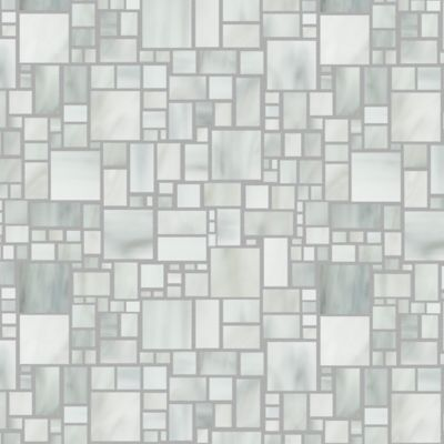 large applique mosaic in rain cloud