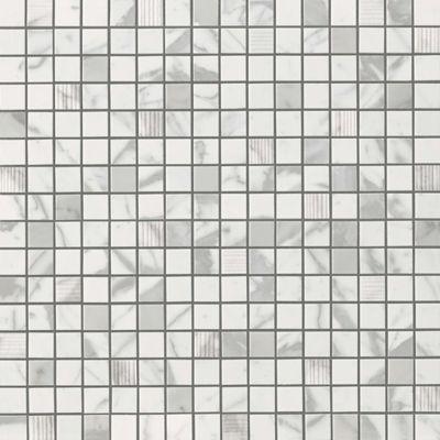 "Domani Bianca 1"" mosaic in honed finish"