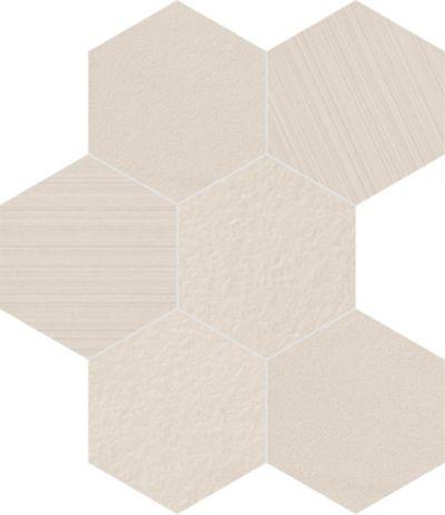 "8"" hexagon in white mix"