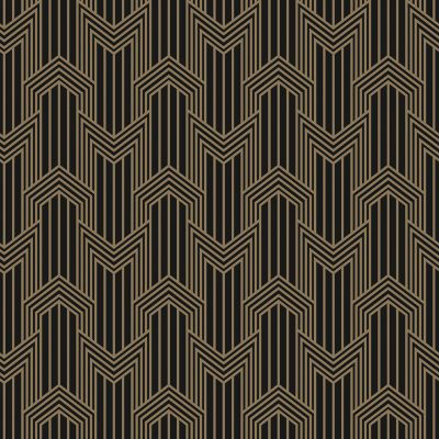 geometric in gold on black