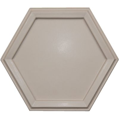 "10.25"" x 9"" Surround Hex in White Shimmer Matte"