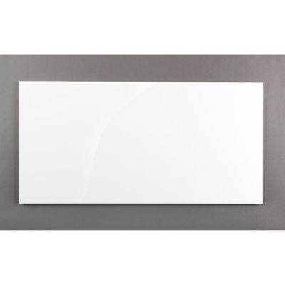 """kanso 12"""" x 24"""" rectangle field in winter white gloss"""