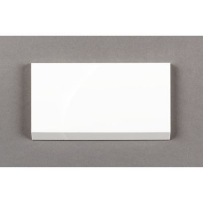 "kanso 3"" x 6"" beveled bordered edge in winter white gloss"