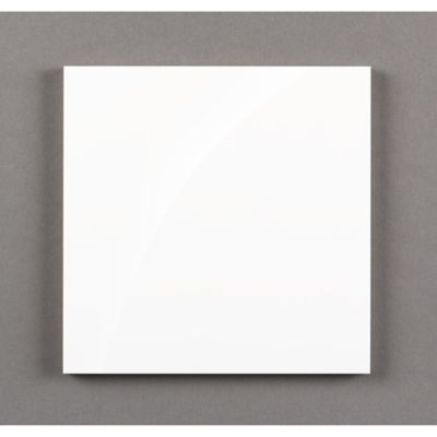 """kanso 6"""" x 6"""" square field in winter white gloss"""