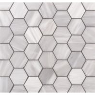 "Lana 2"" hexagon mosaic in brushed finish"