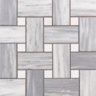 Lana basketweave mosaic in brushed finish