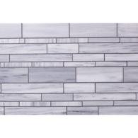 Lana random linear mosaic in brushed finish