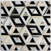 "Liaison Doheny Small 9.291"" x 10.748"" mosaic in Ebony  Blend"